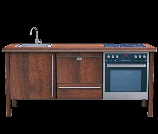 Kücheninse 1.1 Eiche antik