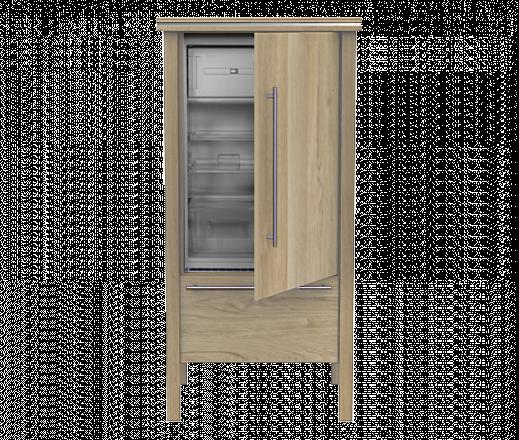 Kühlschrankmodul 8.1 Eiche gekalkt