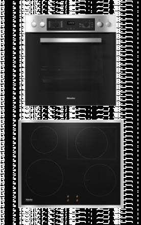 Herdset Miele H2266-1I & KM7003FR(Induktionskochfeld mit PowerFlex Kochbereich)